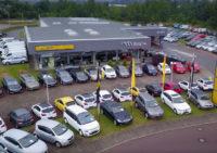 Drohnen Bild vom Autohaus