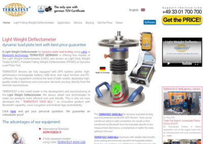 Homepage Light Weight Deflectometer